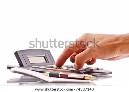 Doing Some Basic Calculations - stock photo
