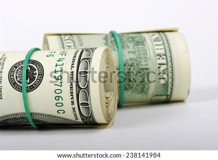 Dolar on a white background - stock photo