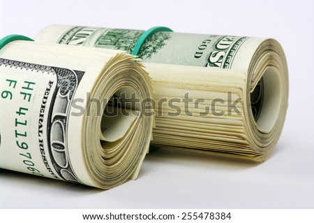Dolar on a white background - stock photo