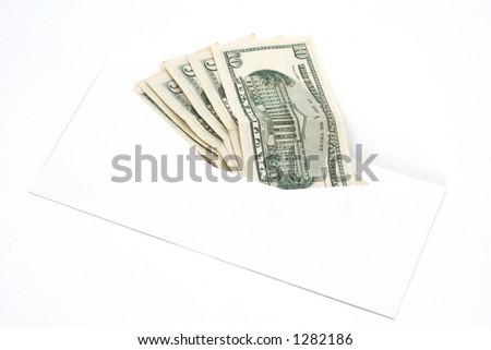 dolars in envelope - stock photo