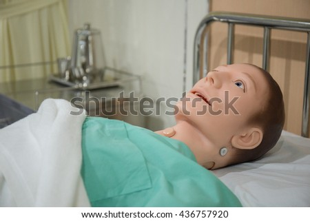 Doll patient - stock photo