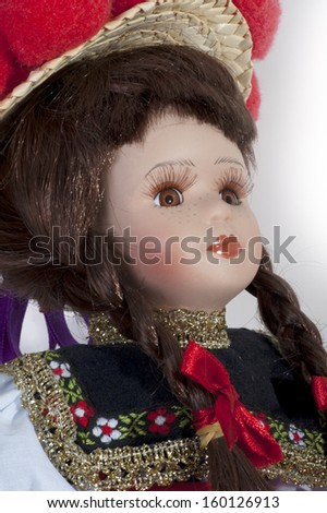 Doll - portrait of the antique female doll face