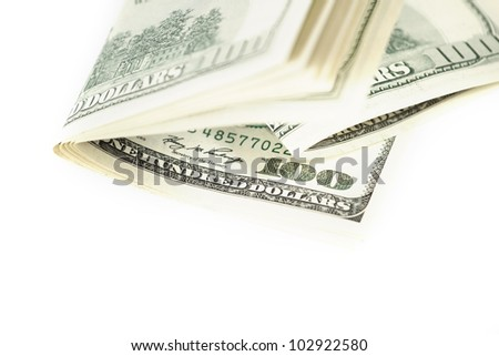 Dollar abstract background against white - stock photo