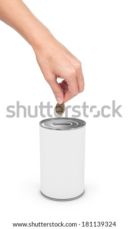 dollar and Donation Box, concept of savings - stock photo