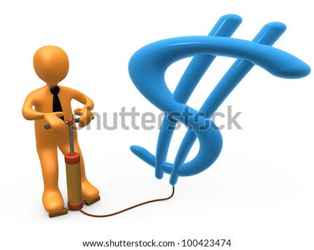 Dollar Balloon - stock photo