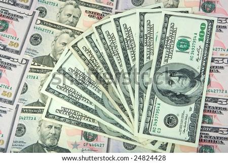 dollar banknotes - stock photo