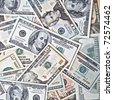 dollar banknotes background - stock photo