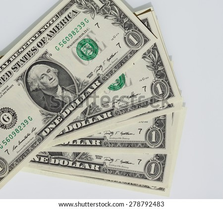 Dollar banknotes 1 Dollar currency of the United States