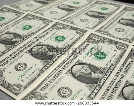 Dollar banknotes 1 Dollar currency of the United States useful as a background
