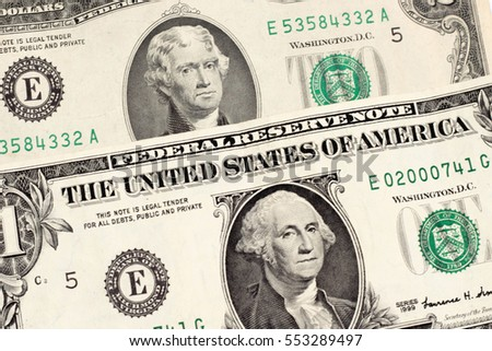 dollar banknotes united States of America background texture