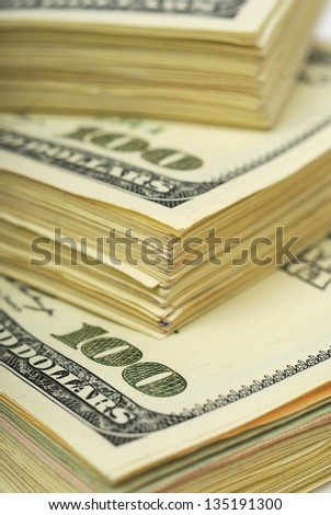 dollar banks note money background - stock photo