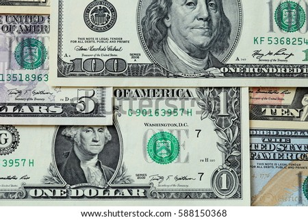 Dollar bills background