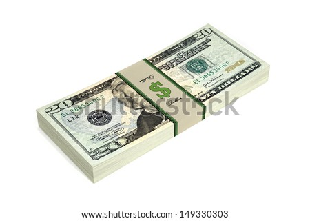 Dollar Bills isolated on white background