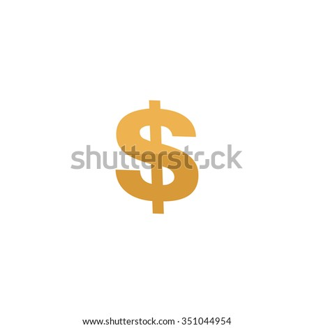 Dollar. Colorful pictogram symbol on white background. Simple icon