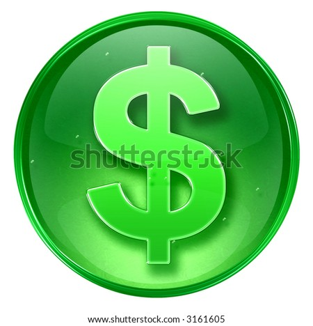 dollar icon. (With Clipping Path)