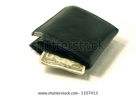 dollar in wallet - stock photo