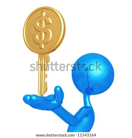 Dollar Key - stock photo