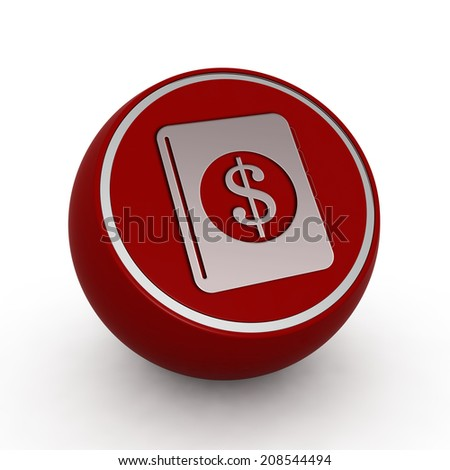 dollar money book circular icon on white background