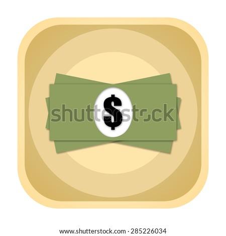 Dollar money icon - stock photo