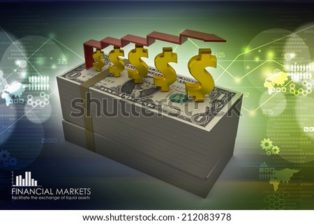 dollar note - stock photo