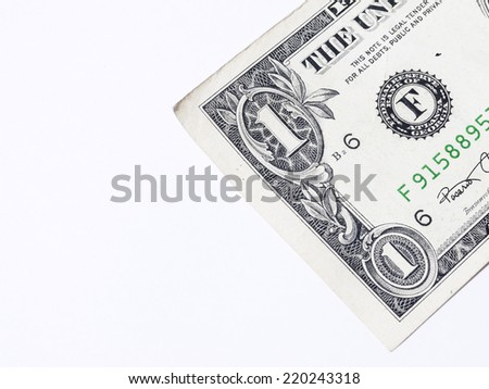 dollar on a white background
