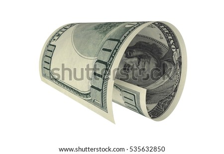 Dollar, Paper Money, American Banknote, Flying Money, 3D Render