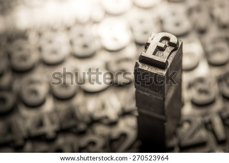 Dollar, Pound, currency exchange sign - stock photo