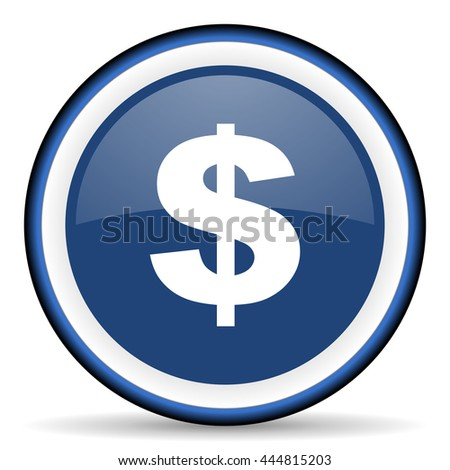 dollar round glossy icon, modern design web element