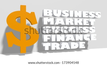 dollar sign and business tags - stock photo