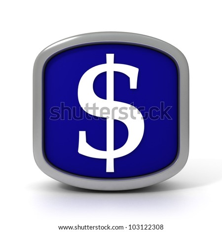 Dollar Sign Icon Isolated on a White Background. Part of a series - stock photo