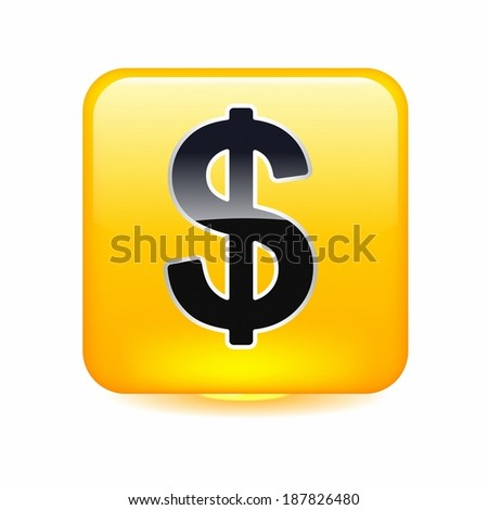 Dollar sign in shiny square