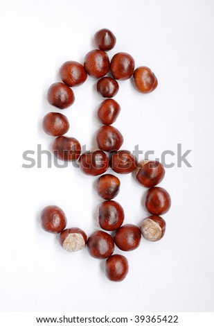 Dollar sign of conkers
