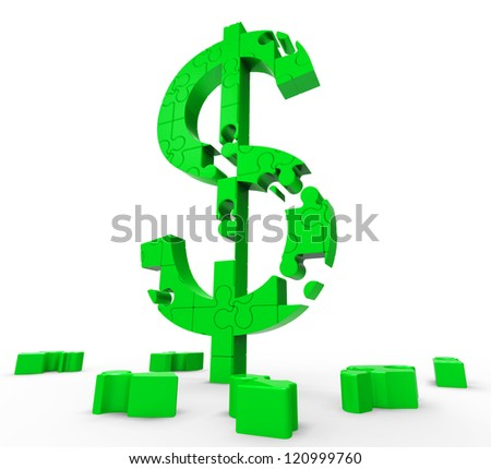 Dollar Symbol Showing Success, Wealth And Income