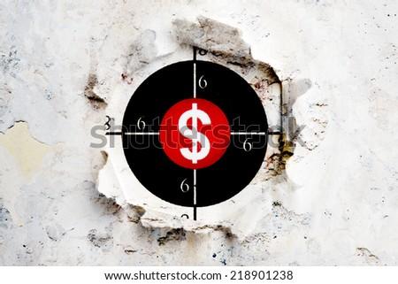 Dollar target - stock photo