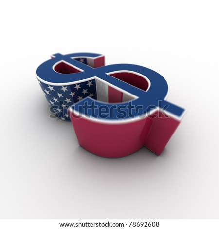 dollar USA - horizontal - stock photo