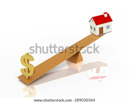 Dollar with 3d Home Model