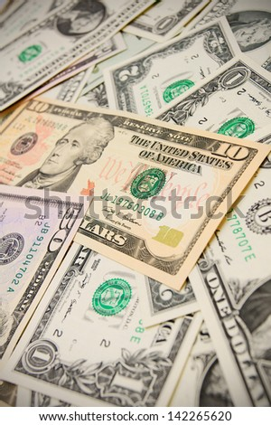 Dollars. A background from money. - stock photo