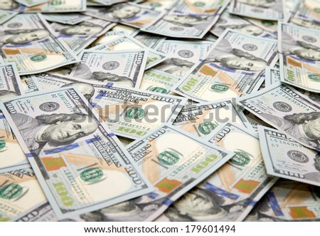 dollars arranged at the background - stock photo