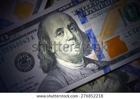 dollars as background  - stock photo