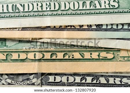 Dollars closeup - stock photo