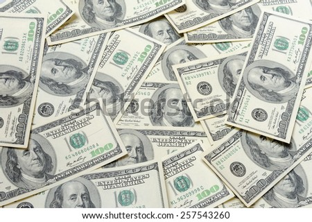 Dollars - full frame - stock photo
