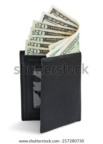 Dollars in wallet - stock photo