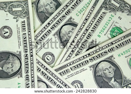 dollars pile as background. - stock photo