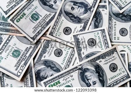 Dollars seamless background - stock photo