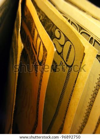 Dollars. Selective focus. - stock photo