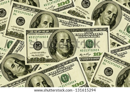 Dollars stack - stock photo