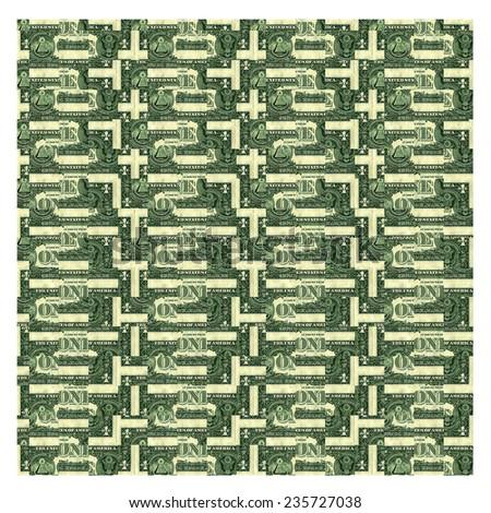 dollars  texture, background - stock photo