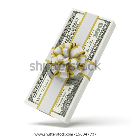 Dollars with decorative bow