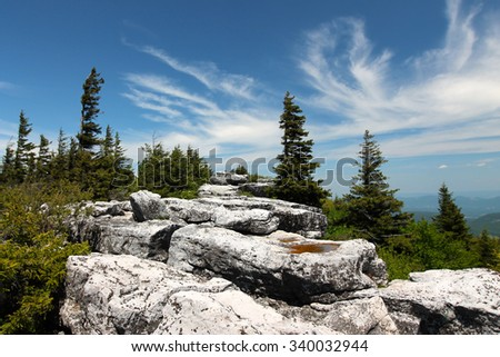 Dolly Sods Rocks - stock photo