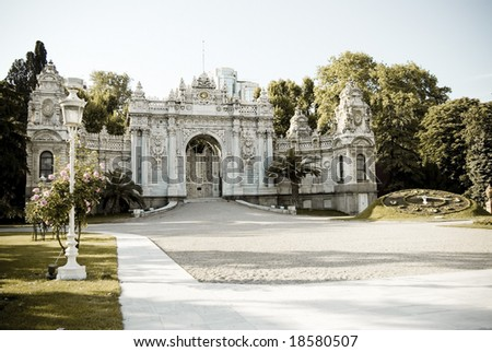Dolmabahce Palace's Garden - stock photo